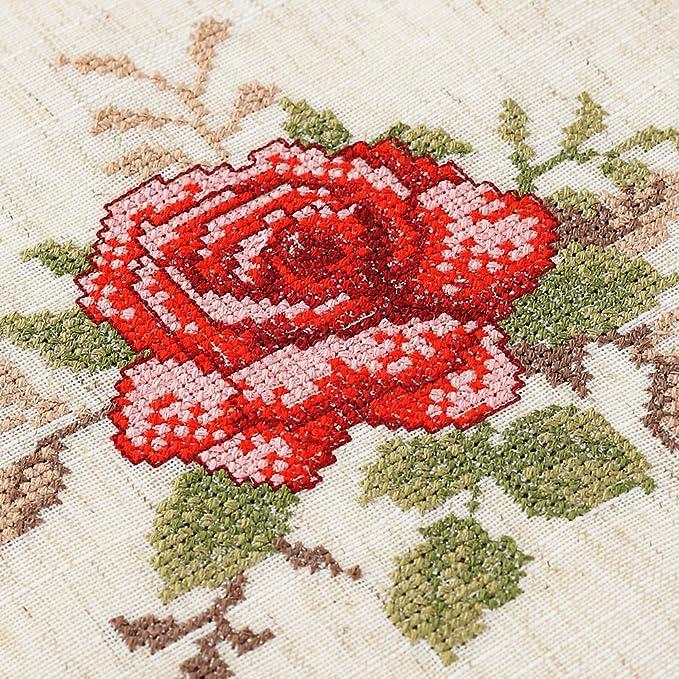 moderno chino mantel/Jardín paño de tabla del bordado de punto de Cruz/ mantel/manteles/mantel/ mantel rectangular pequeña de lino/ cover toallas-B ...