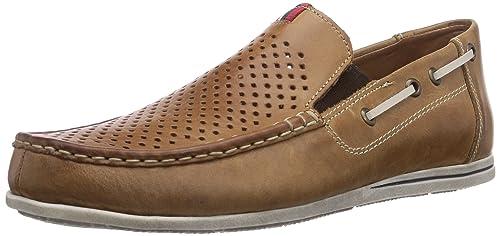 Rieker 09765 - mocasines de cuero hombre, color marrón, talla 40: Amazon.es: Zapatos y complementos