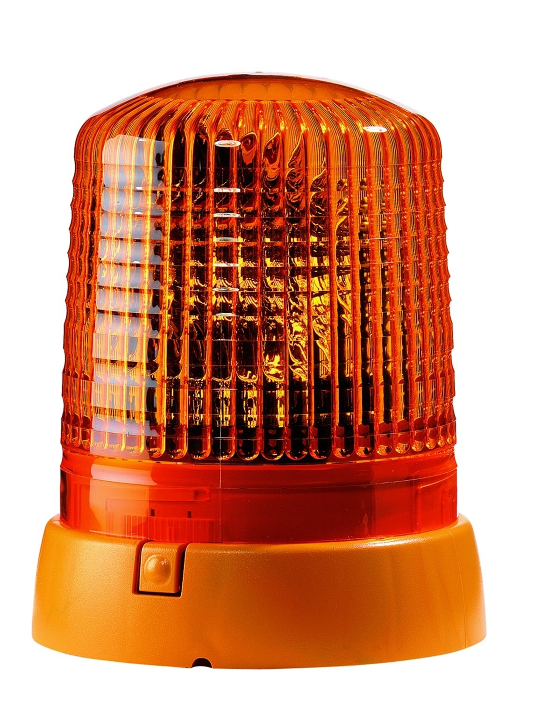 HELLA 008061111 KL 7000 Series 24V Amber Fixed Rotating Beacon