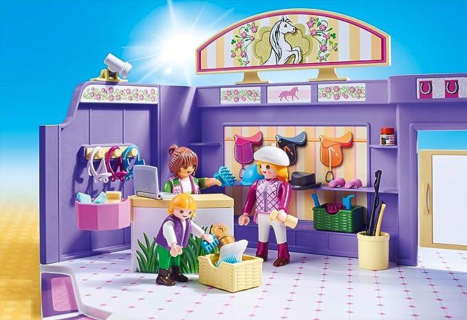 Playmobil Tienda de Equitación Juguete geobra Brandstätter 9401: Amazon.es: Juguetes y juegos