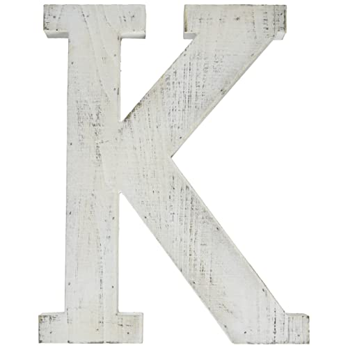 adeco wooden hanging wall letters k white decorative wall letter of living room