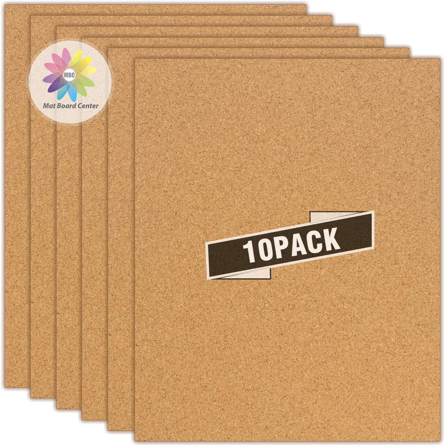 """MBC MAT BOARD CENTER, Pack of 10, 16x20 Cork Foam Boards - 3/16"""" (5mm) Thick - Lightweight - Great for DIY Bulletin Boards, Jewelry Displays, Wall Organizers, Memo Boards"""