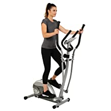 Compact Magnetic Elliptical Machine Trainer with LCD Monitor and Pulse Rate Grips by EFITMENT - E005