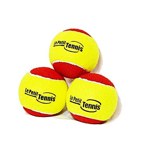 6d60261fc99c3 Ma Première Balle de Tennis pour enfant Rouge   Jaune - Le Petit Tennis  (pour enfants) - Pack de 3 Balles