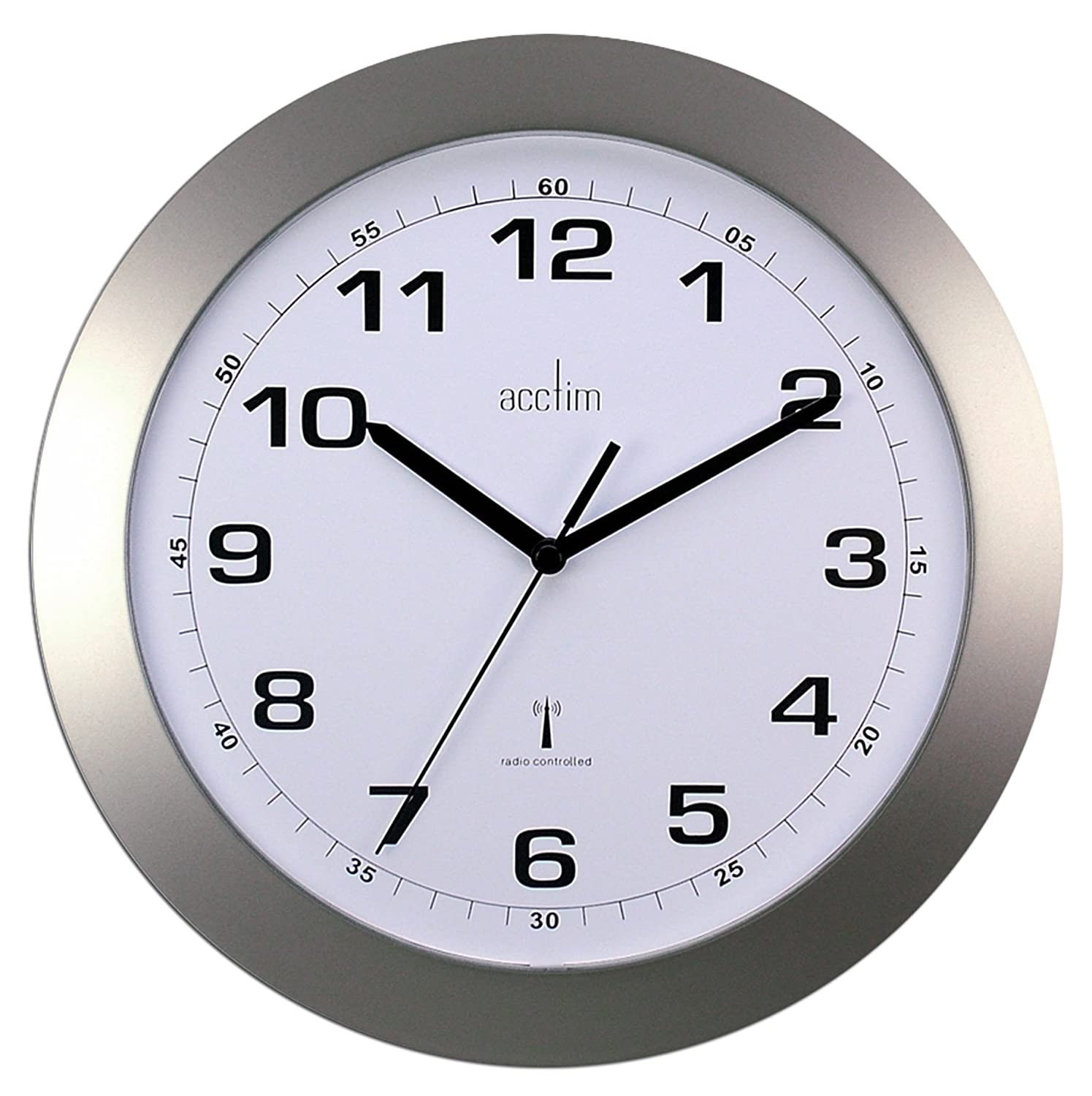 Cadiz silver radio controlled wall clock amazon office cadiz silver radio controlled wall clock amazon office products amipublicfo Image collections