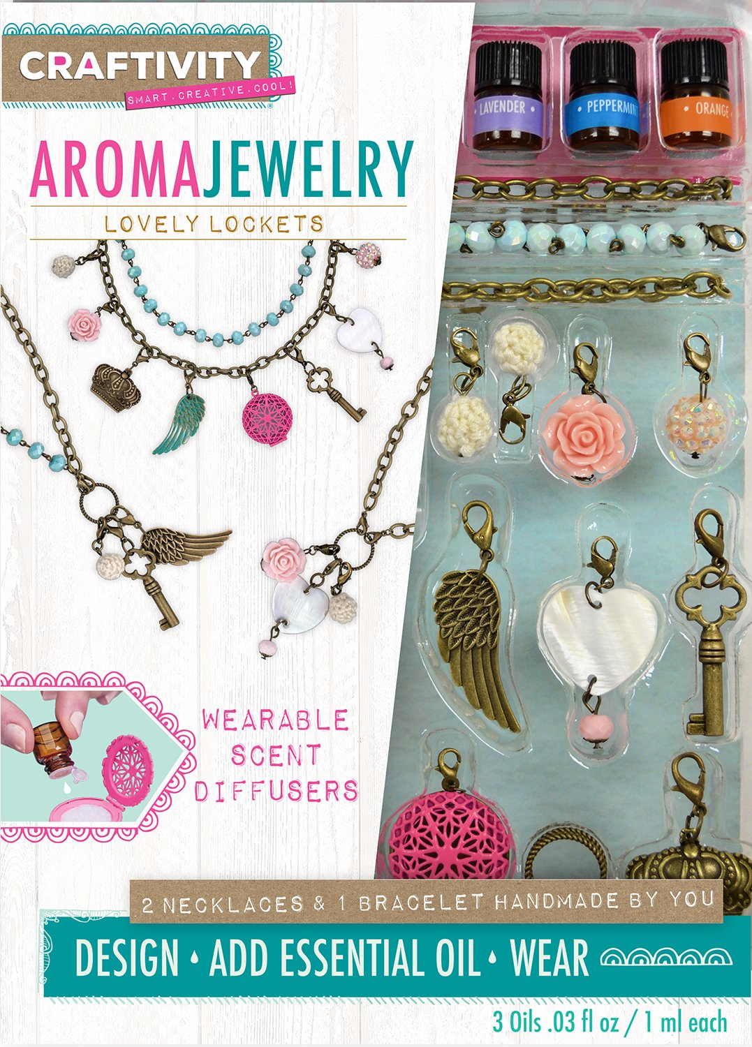 CRAFTIVITY AromaJewelry Lovely Lockets - Essential Oil Jewelry Making Kit by CRAFTIVITY (Image #1)