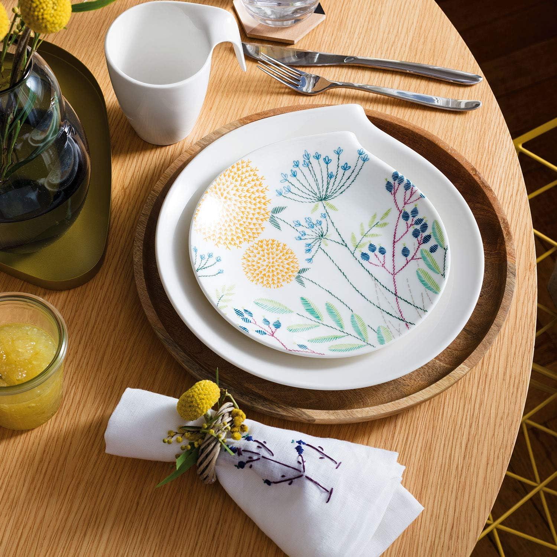 Villeroy /& Boch Flow Assiette /à pain 20 x 17 cm Blanc Porcelaine Premium