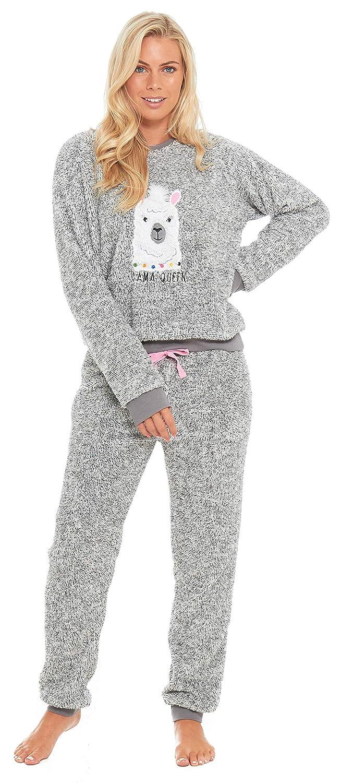 de229b4f45258 Slumber Hut® Ladies Pug Dog Llama Fleece Pyjamas - Luxury Womens Animal  Novelty Loungewear Twosie Pajamas PJs - Size UK 8 up to 22  Amazon.co.uk   Clothing