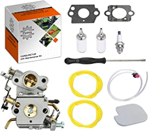 Podoy P3314 Carburetor for Compatible with Poulan Chainsaw Parts PP4218A Air Fuel Filter with Adjustment Tool Tune-up Kit for P3416 P3816 P4018 PP3416 PP3516 PP3816 PP4018 PP4218 PPB3416 PPB4018