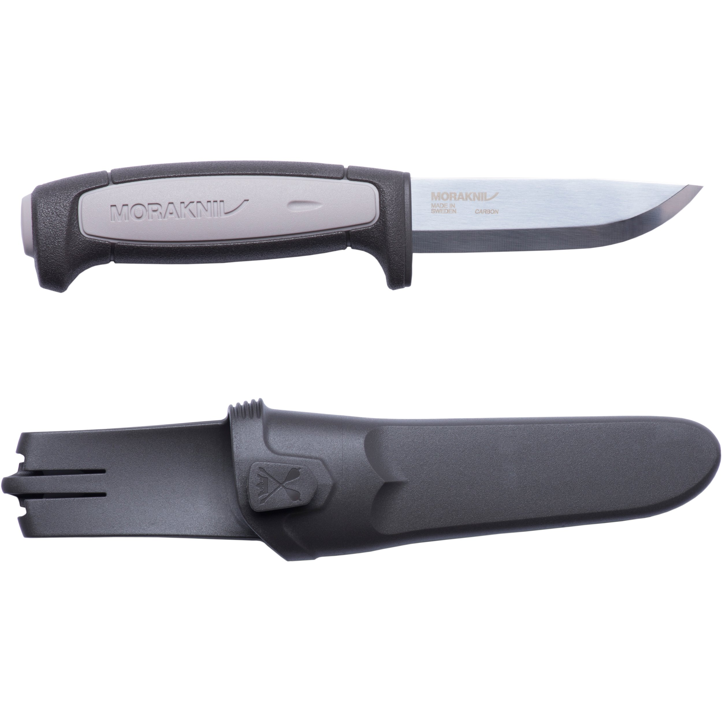 Morakniv Craftline Robust Trade Knife with Carbon Steel Blade and Combi Sheath (3.6-Inches)