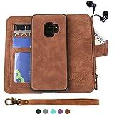 Samsung Galaxy S9 Case, Modos Logicos [Detachable Wallet Folio][2 in 1][Zipper Cash Storage][Up to 14 Card Slots 1 Photo…
