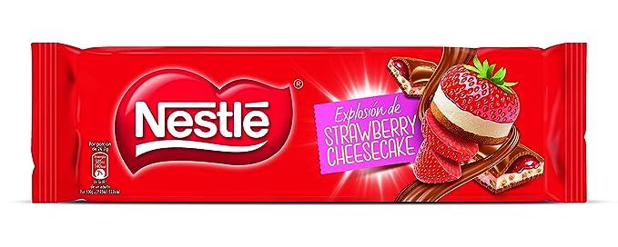 Nestlé - Explosíon de Strawbery Cheesecake - Chocolate con Leche Relleno - 240 g