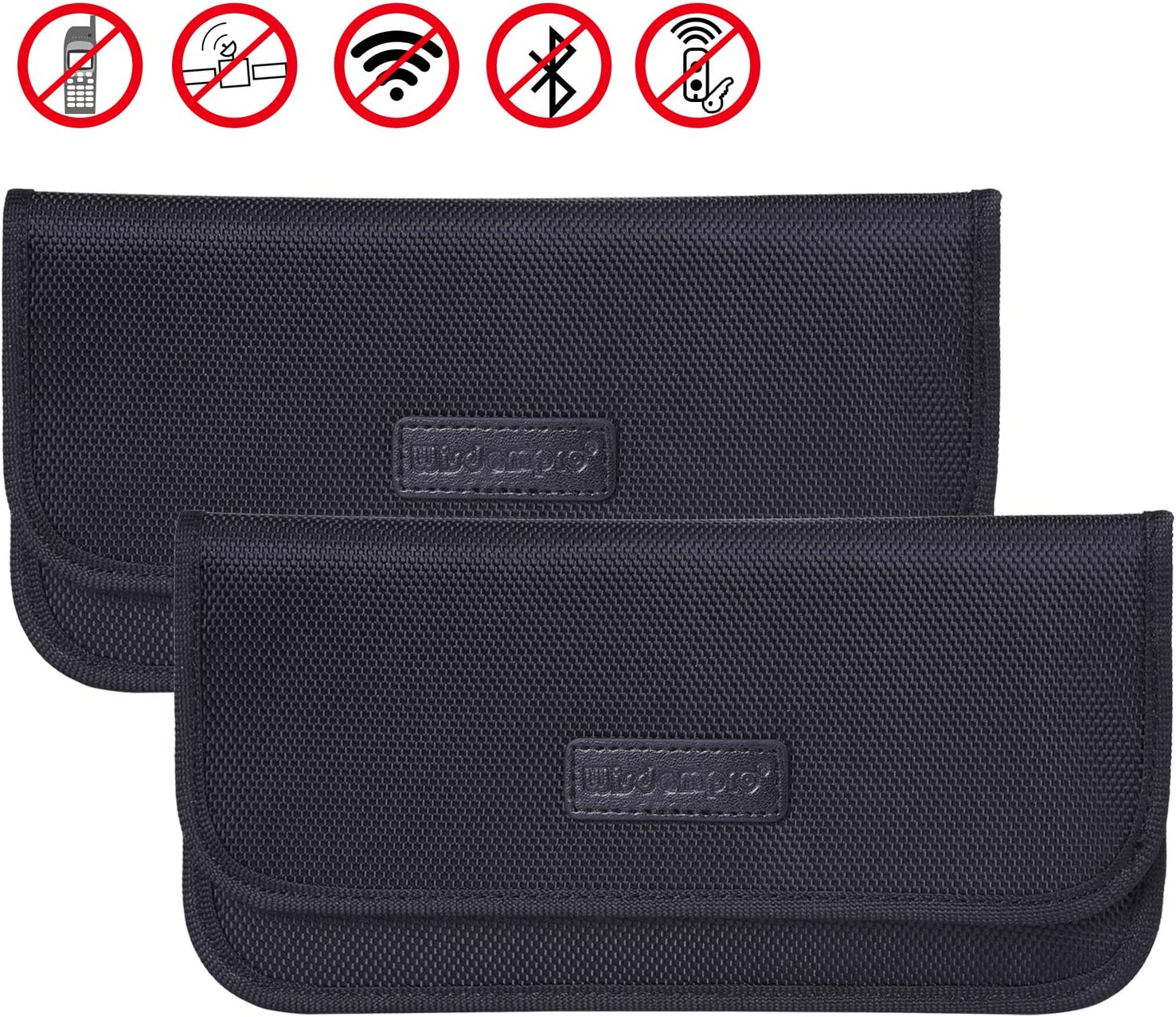 2 Pack Faraday Bag for Car Key Fob,Faraday Cage RFID Signal Blocking Bag Case Shielding Pouch,RFID//WiFi//GSM//LTE//NFC Protector,Carbon Fiber Texture,Black