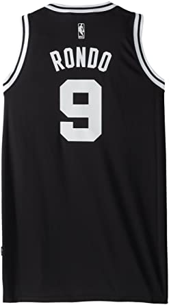 555a3c2cc351 NBA Men s Boston Celtics Rajon Rondo Black-Black-White Swingman Jersey  (Black