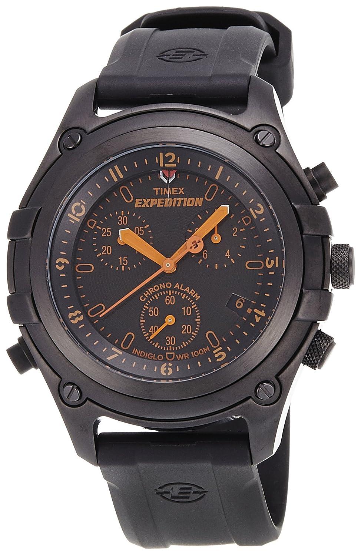 [タイメックス]TIMEX 腕時計 エクスペディション Trail Series Chronograph Alarm ブラック T49746 メンズ [正規輸入品] B001SAGAUA