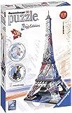 Ravensburger RAP125814 Puzzle 3D Eiffel Tower - Edizione Bandiera, 216 Pezzi