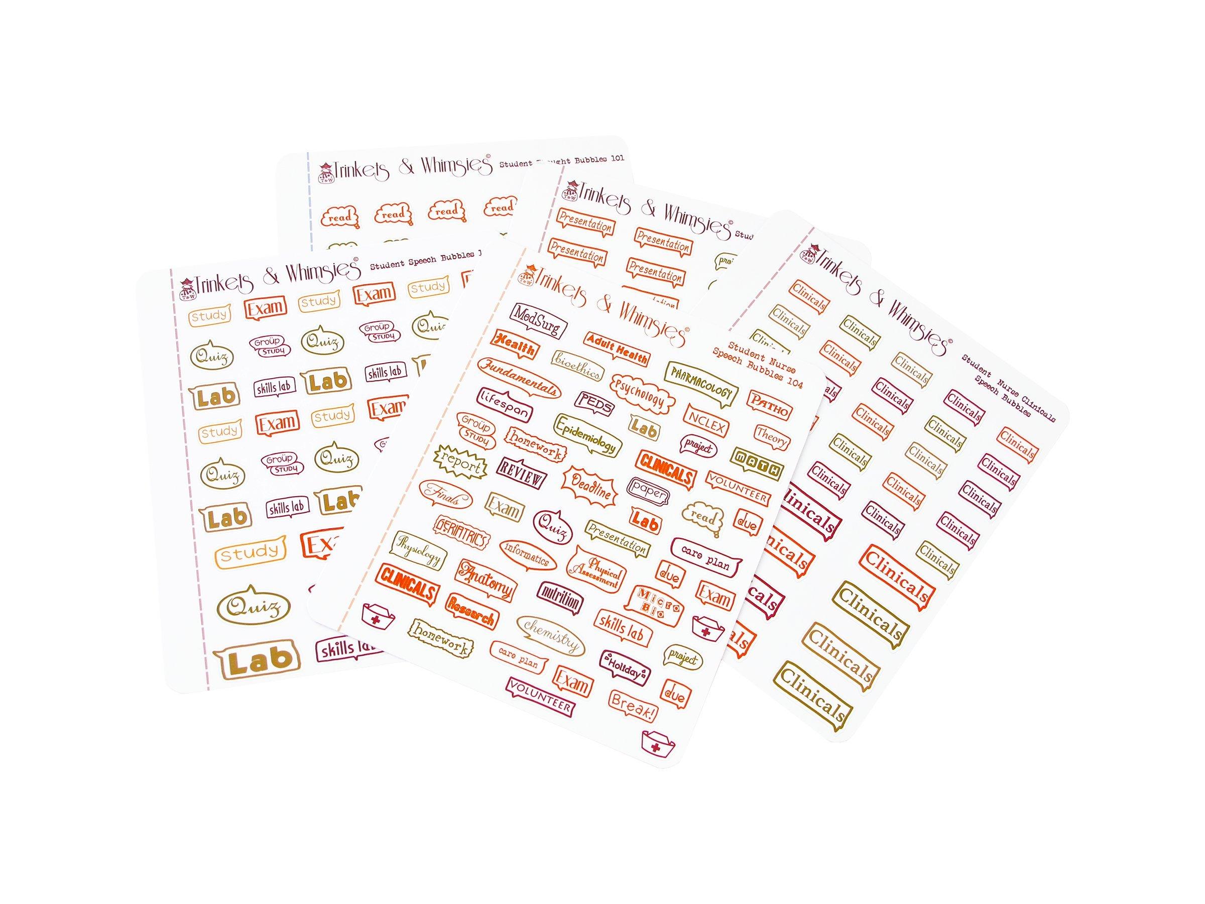 Nursing School   Student Nurse   Future RN   Future Nurse   Personal Planner Stickers   Planner Accessory (Fall Colors_Glossy)