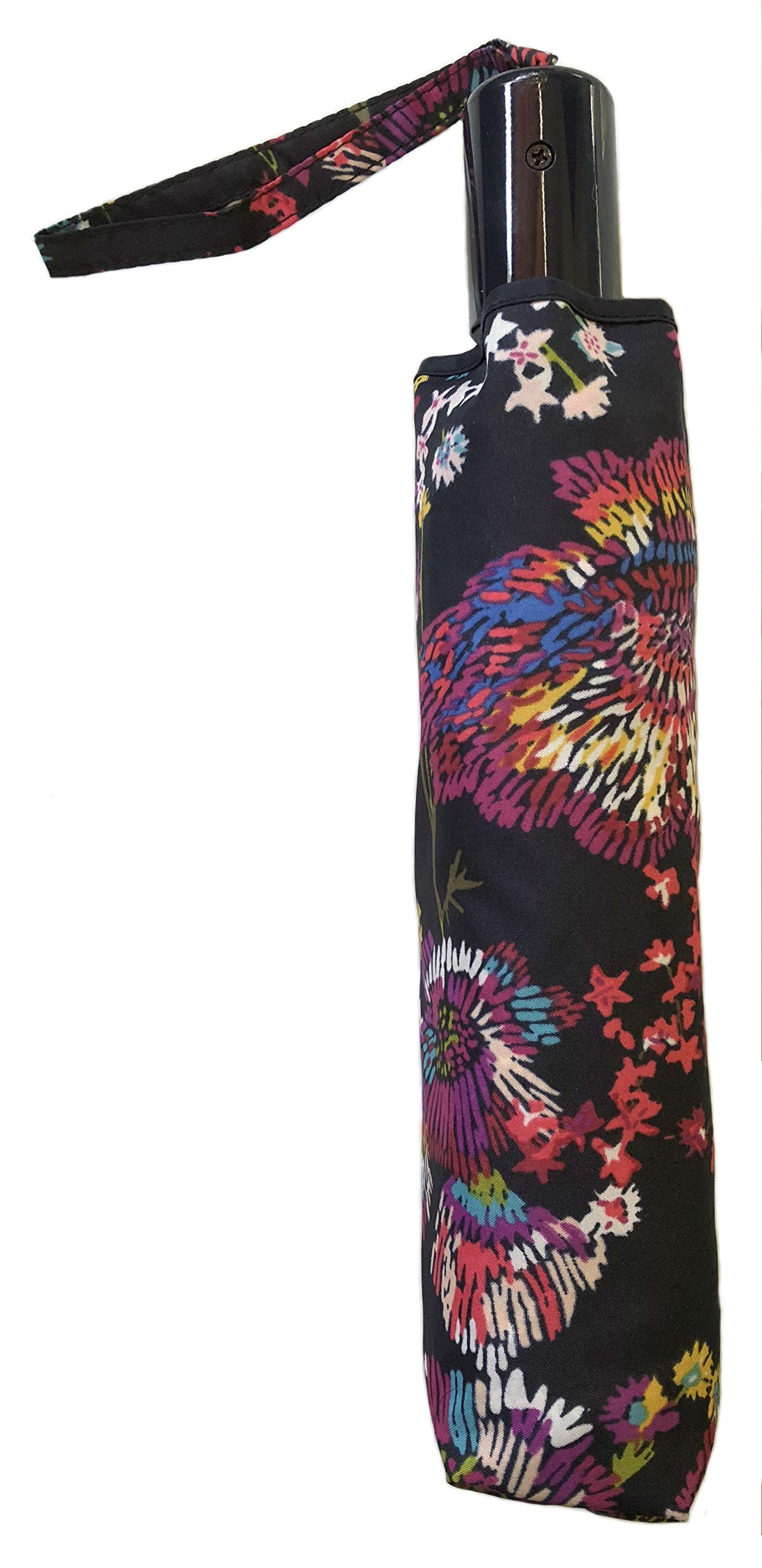 Vera Bradley Umbrella in Midnight Wildflowers