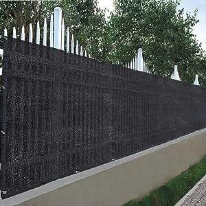 ReaseJoy 1 m x 7,6 m 90% privacidad Valla Malla Cortavientos Cubierta de Malla 180 gsm HDPE jardín Patio balcón con Bridas con Cremallera: Amazon.es: Hogar