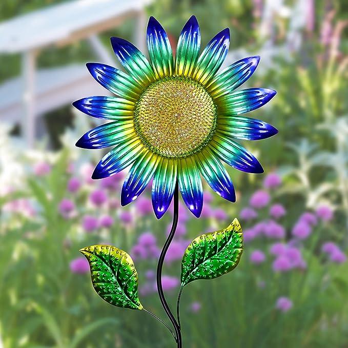 Exhart - Estaca para jardín, diseño de Girasol: Amazon.es: Jardín