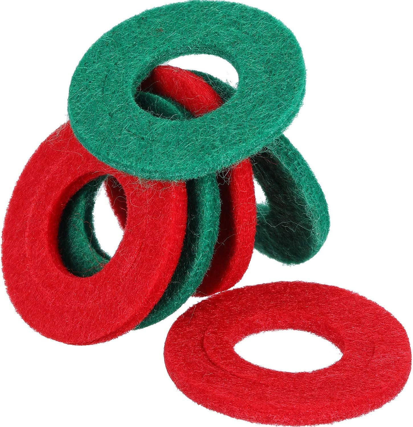 DishyKooker Battery Terminal Protector 12 Pieces Battery Terminal Anti Corrosion Washers Fiber 6 Red and 6 Green Car Motorcycle