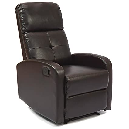 Best Choice Products Home Theater Leather Recliner Chair (Ebony Brown)