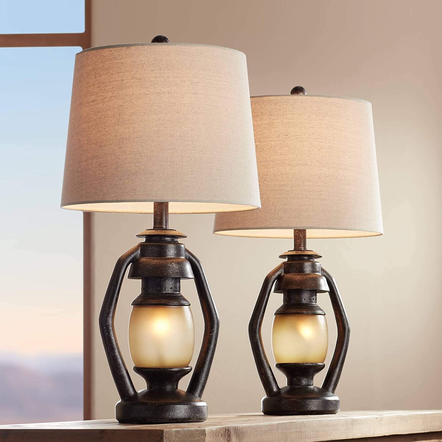 Horace Rustic Farmhouse Table Lamps