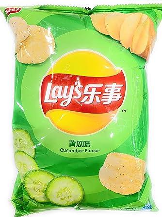 Lays Papas Chips Sabor a pepino - 2.47 oz (2 bolsas): Amazon ...