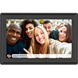 Feelcare 10 Inch 16GB Smart WiFi Digital Picture Frame, Send Photos or Small Videos from Anywhere, Touch Screen, 800x1280 IPS LCD Panel, Wall-Mountable, Portrait and Landscape(Black)