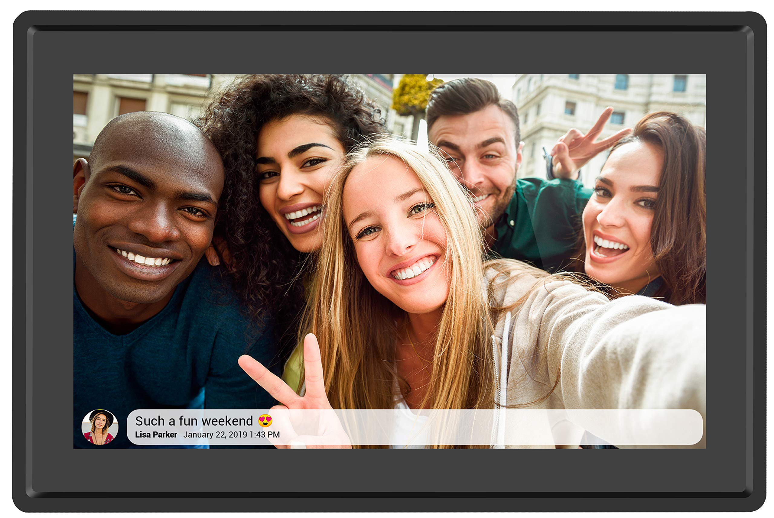 Feelcare 10 Inch 16GB Smart WiFi Digital Picture Frame, Send Photos from Anywhere in The World, Touch Screen, 800x1280 IPS LCD Panel, Wall-Mountable, Portrait and Landscape(Black) by Feelcare