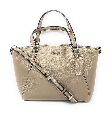 dc78e8acf7d23 Amazon.com: Coach Pebble Leather Mini Kelsey Satchel Crossbody Handbag  (Metallic Platinum): Shoes