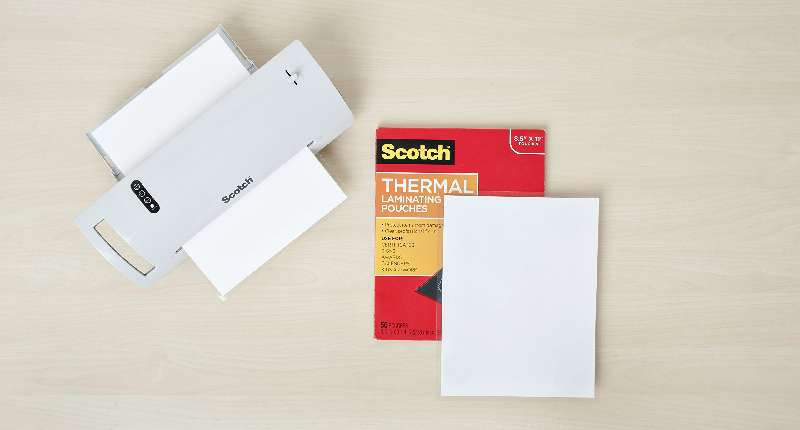 Scotch Thermal Laminating Pouches, 8.9 x 11.4-Inches, 3 mil thick, 200-Pack, Clear (TP3854-200) by Scotch (Image #2)