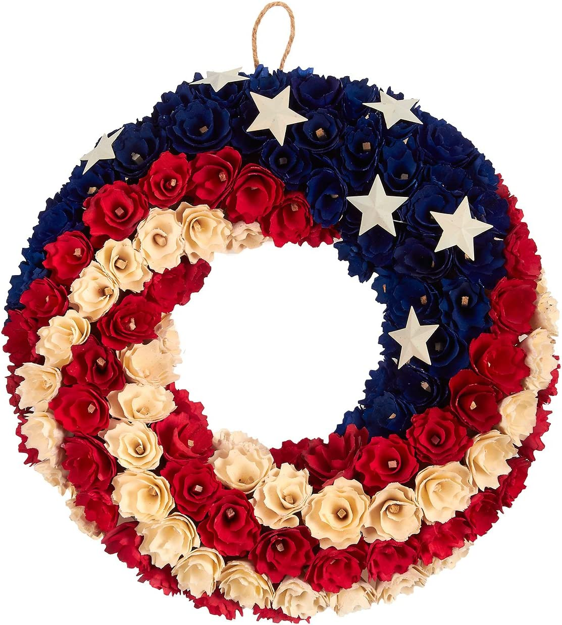 American Flag Decor, Floral Door Wreath for Election Day (14 in)