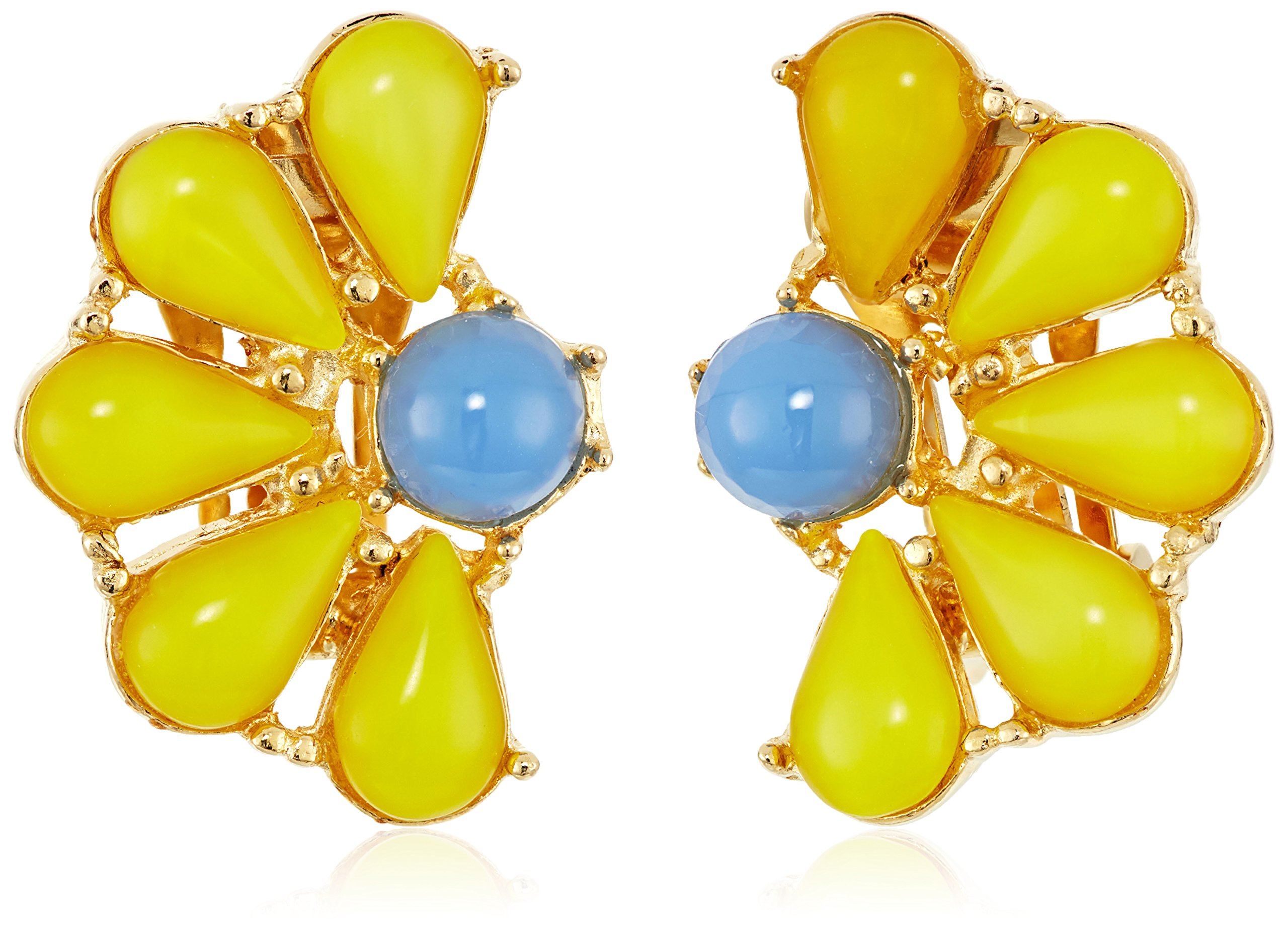 Ben-Amun Jewelry Garden Escape Daisy Clip-On Earrings