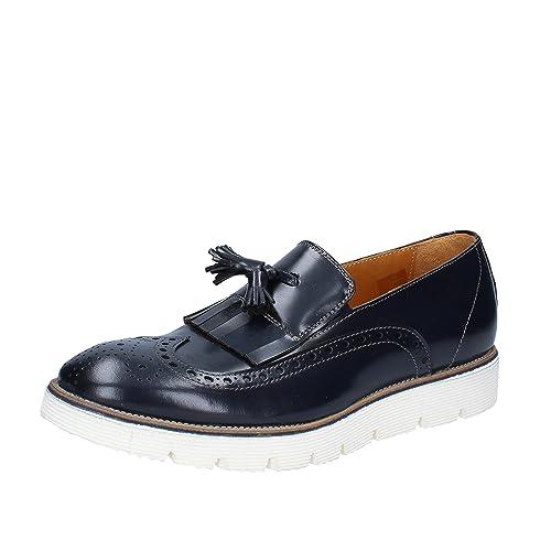 +2 Made IN Italy - Mocasines de Piel para Hombre Azul Turquesa Azul Size: 42: Amazon.es: Zapatos y complementos