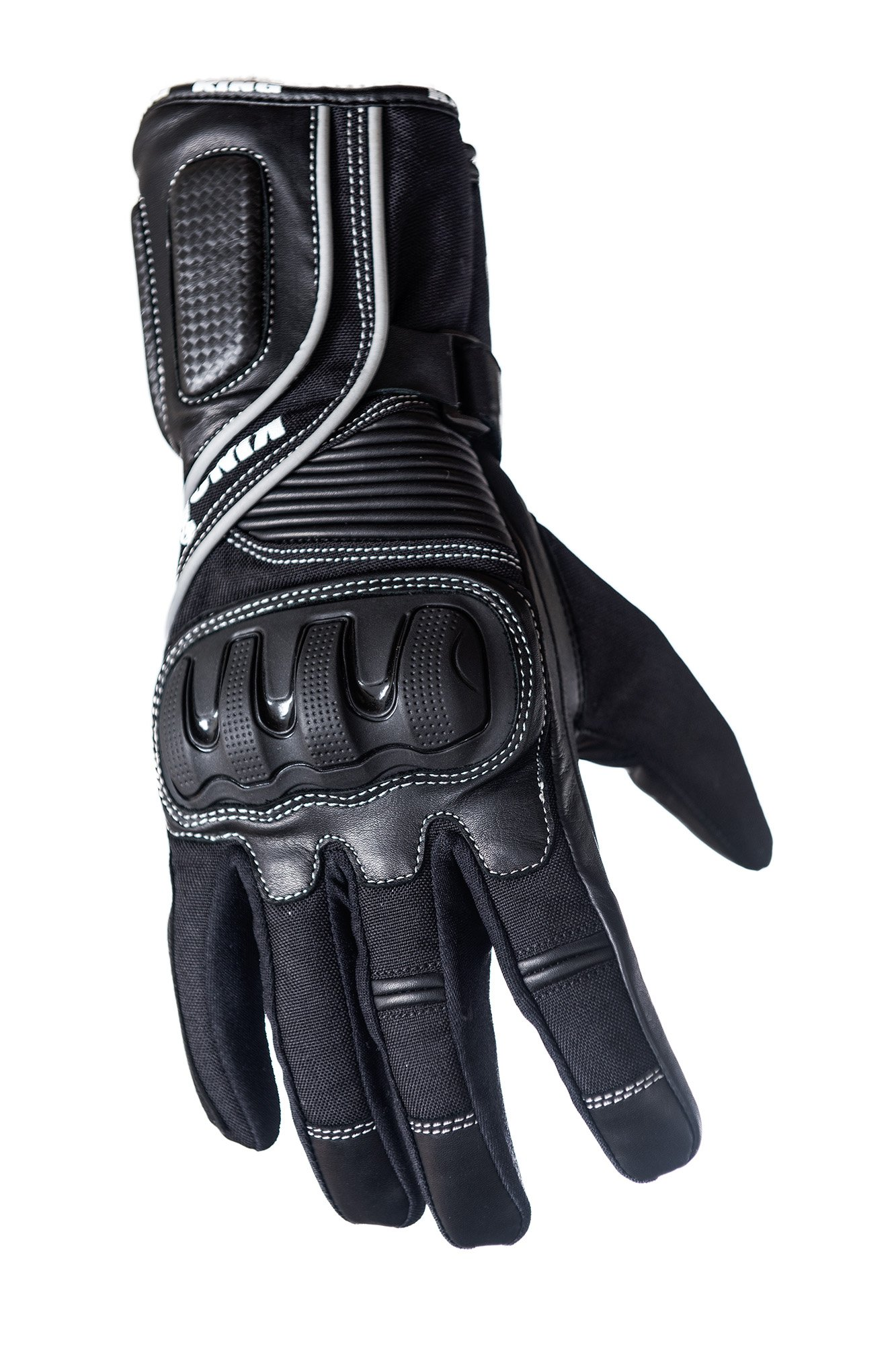 Protect the King Crow Premium Leather Gauntlet Motorcycle Sport Biker Gloves (X-Large)
