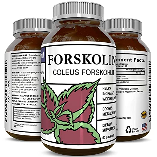 Forskolin Extract For Weight Loss - For Men & Women - Potent Appetite Control - Pure Testosterone Booster - Forskolin Workout Capsules - Burn Belly Fat - Lose Weight - Safe Naturals Center