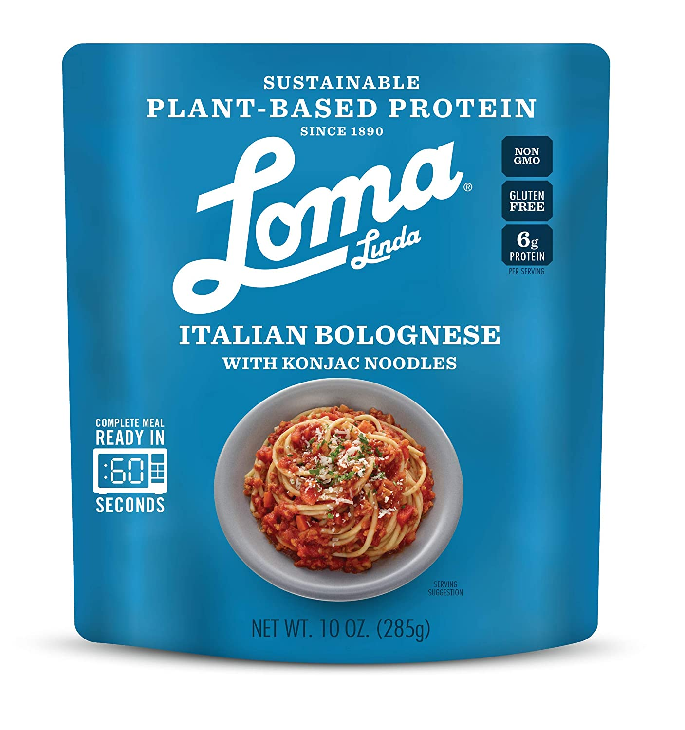 B07M99HRJH Loma Linda Blue - Plant-Based Complete Meal Solution - Heat & Eat Italian Bolognese with Konjac Noodles (10 oz.) (Pack of 3) - Non-GMO 81ygZYufiXL