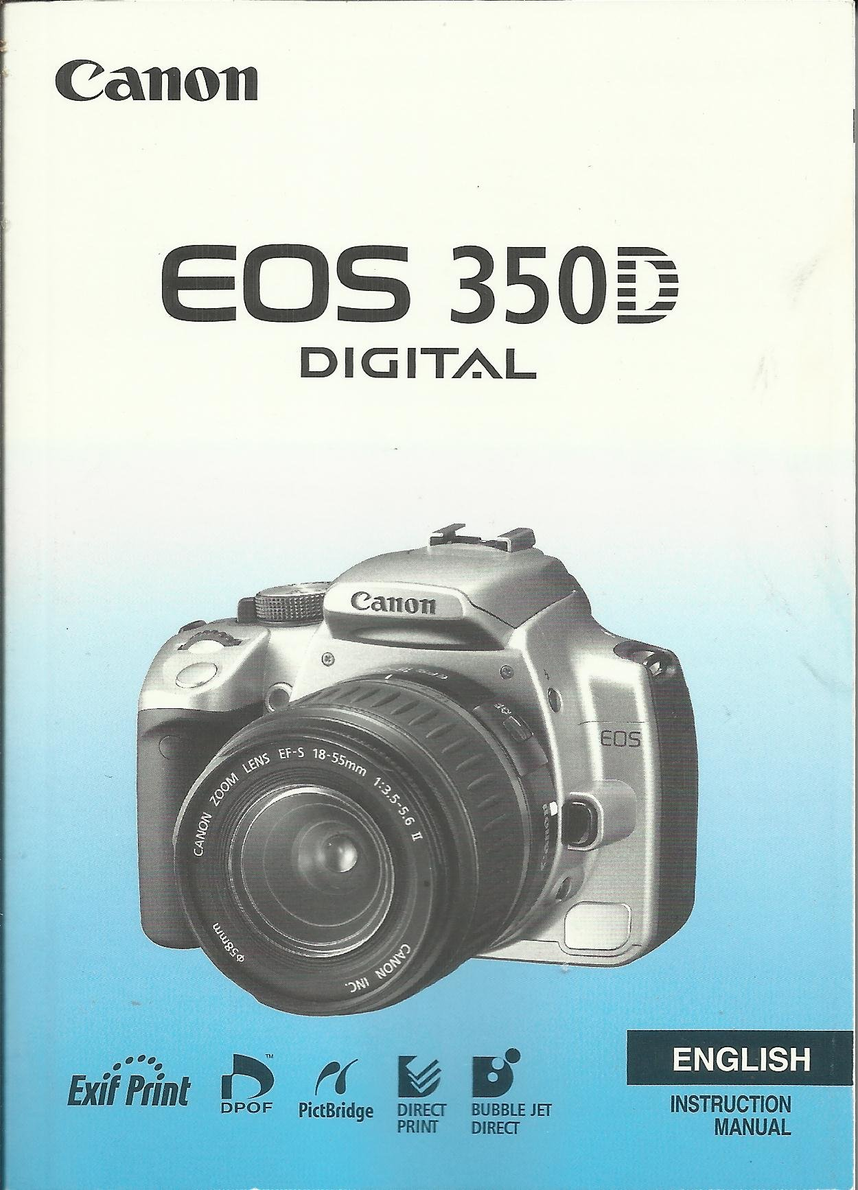 canon eos 350d digital camera instruction manual original amazon rh amazon  co uk Canon EOS 400D Canon EOS 30D