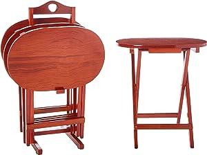 Oriental Furniture Rosewood TV Tray Set - Honey
