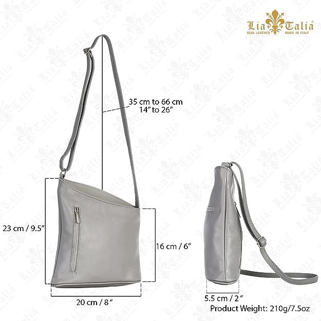 c405737e847d LIATALIA Womens Mini Genuine Soft Leather Cross Body Cross-Body Shoulder  Bag Purse - JOY  Black   Handbags  Amazon.com