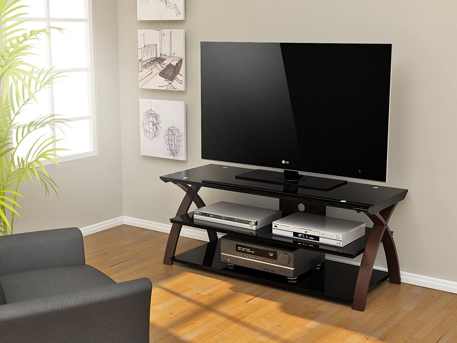 Amazon.com: Z Line Designs Willow TV Stand, 55 Inch, Brown: Kitchen U0026 Dining