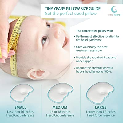 tinyyears baby head shaping pillow for infants 100 breathable its the perfect newborn head shaping baby pillow a baby flat head pillow exercises