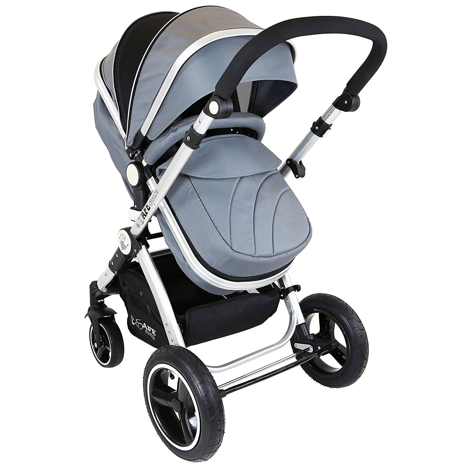 iSafe Baby Pram System 2in1 - Grey PrmSysC&M_Bed