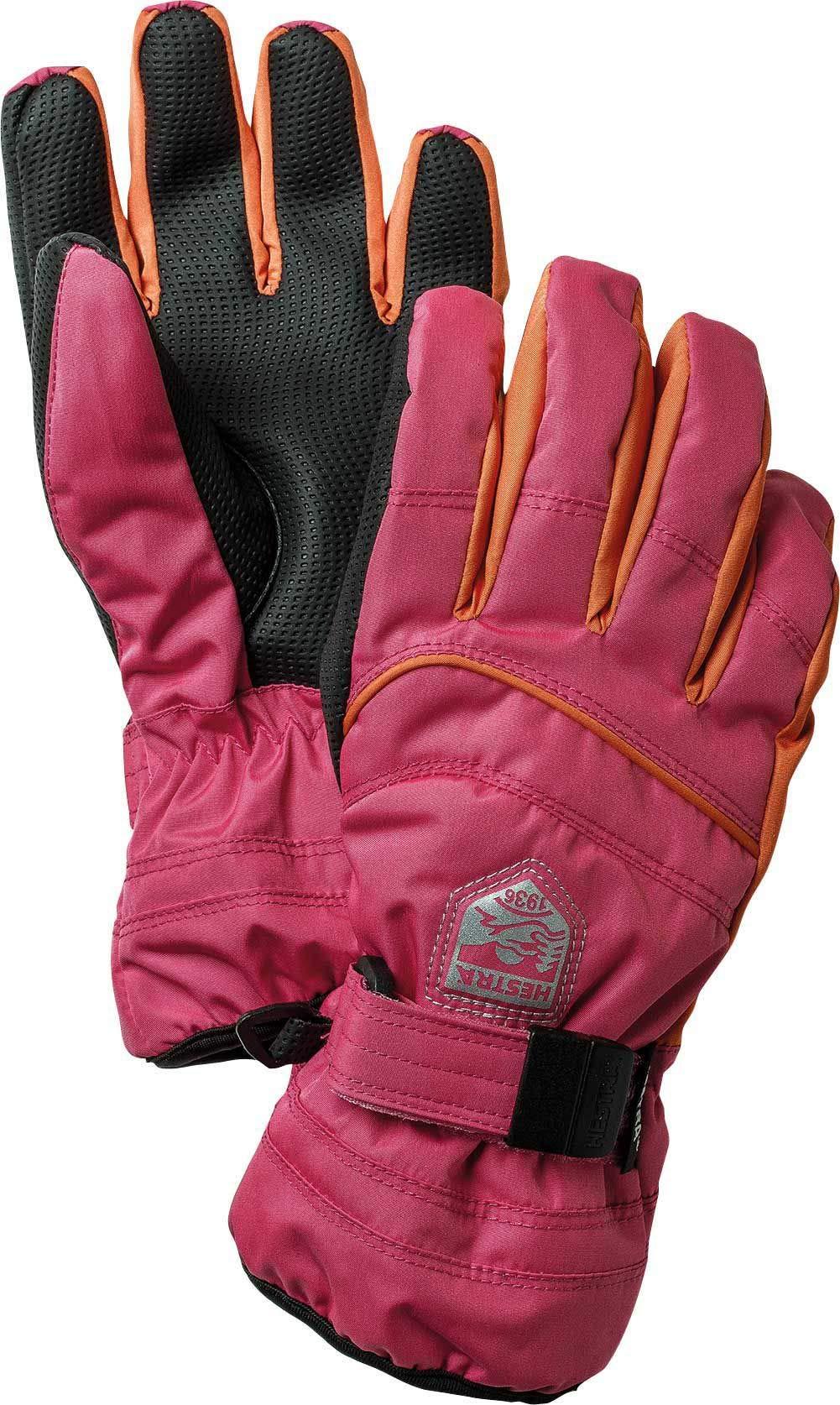 Hestra Gloves 32880 Jr. Primaloft, Fuchsia/Light Orange - 5