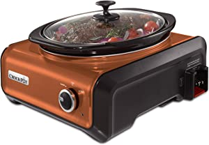 Crock-Pot SCCPMD3-CP Hook Up Oval Connectable Entertaining System, 3.5-Quart, Metallic Copper