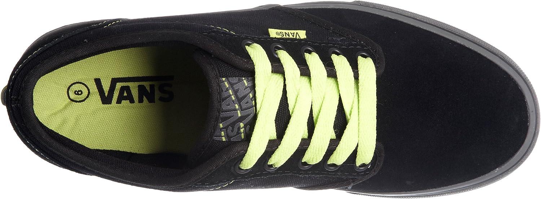 Vans Atwood Vkc4Gbk, Herren Sneaker, schwarzlime, 50.5 EU