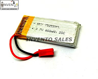 edab686681d Invento LiPo 3.7V 800 mAh 20C Battery 1 cell for mini drones Quadcopter  Helipcopter Airoplane RC Plane  Amazon.in  Industrial   Scientific