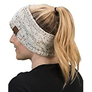 Funky Junque Cable Knit Fuzzy Lined Head Wrap Headband Ear Warmer
