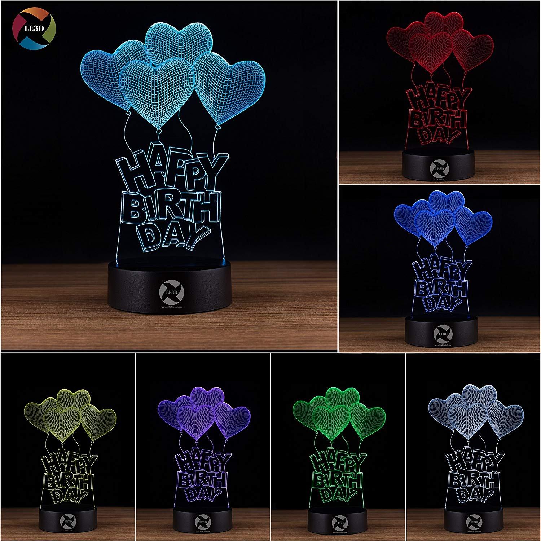 3D ナイトライト B071JVY5GH 10609 HAPPY B-DAY HAPPY BDAY
